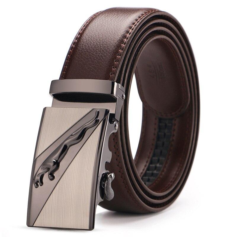 Männer Echte Leder Gürtel Braun Automatische Schnalle Plus Größe Hüftgurt Business Männlichen Cintos Hohe Qualität
