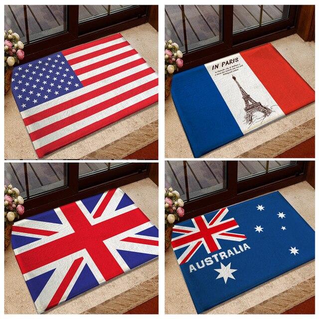 Entrance Doormat National Flag Usa Uk Memory Foam Bathroom Rugs And Carpets Australia Canada