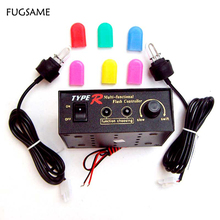 WHOLESALE! 24pcs/lot Type R 8 Function adjustable Warning Strobe light(  big U tube) Multi-color cover 704-2 GGG FREESHIPPING