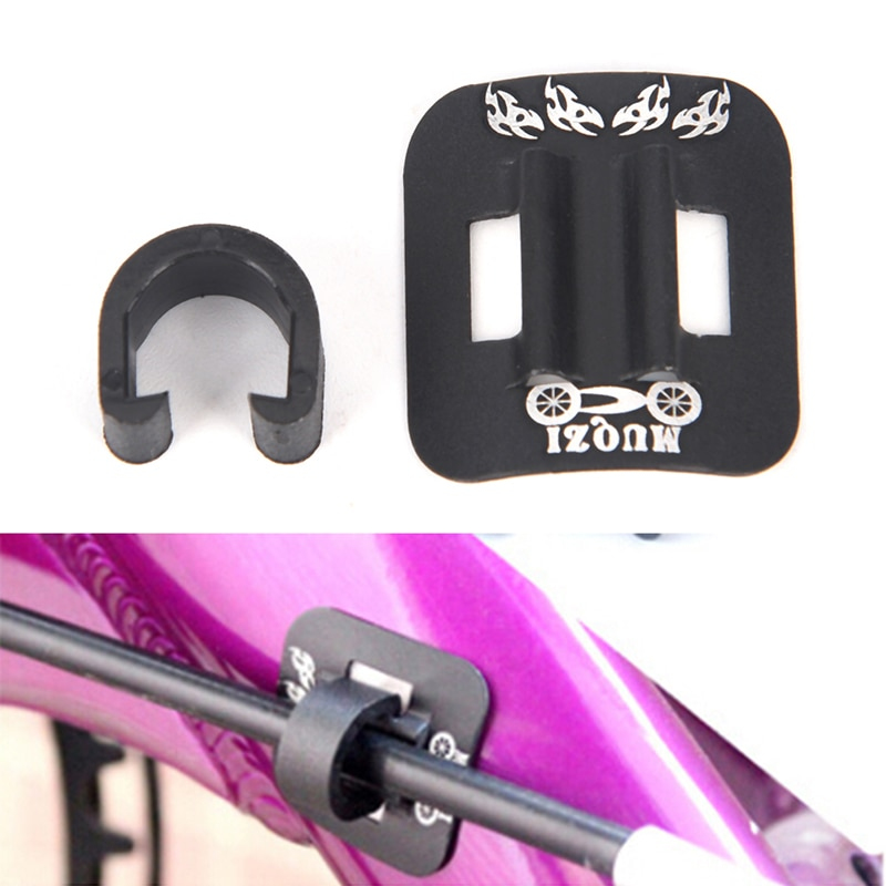 Bike Brake Hydraulic Oil Cable Guide Fitting Line Tube Housing Base Clip Outdoor Bicycle Mountain Car Line Tube Holder