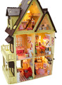 DIY  Hand-made wooden miniature doll house  1:12 large house 3d dollhouses,assembled building model,Creative Christmas gift