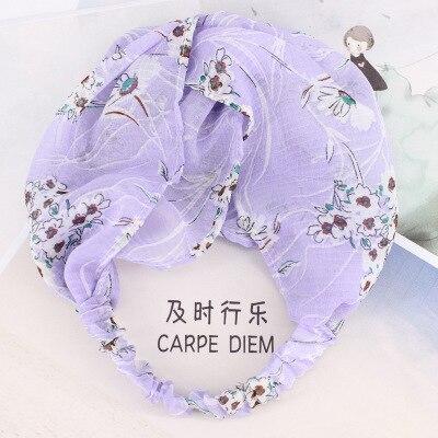 Hot cloth floral hair band Korean super fairy headdress sweet face wide-brimmed small fresh European and American Mori girl