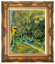 Asylum and Garden by Vincent Van Gogh Handpainted