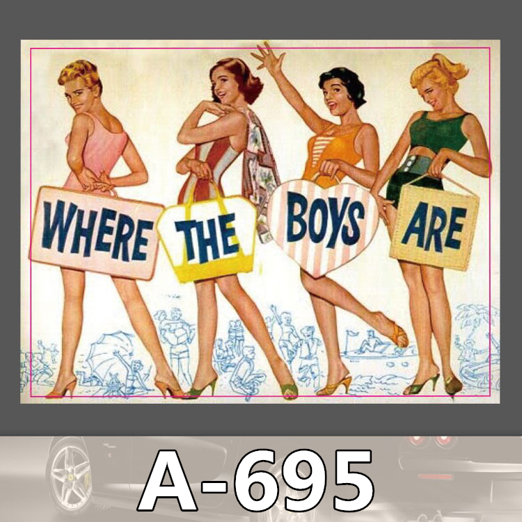 A-695 Where The Boy Are Waterproof Cool DIY Stickers For Laptop Luggage Fridge Skateboard Car Graffiti Cartoon Sticker