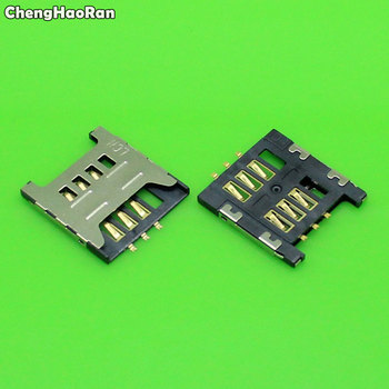 ChengHaoRan 2-10pcs Sim Card socket Slot Holder Tray Replacement Parts for Samsung GT E1200M E1200 I519 I939D I939i image