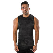 2019 summer mens casual vest jogger fitness camouflage sleeveless fashion street brand