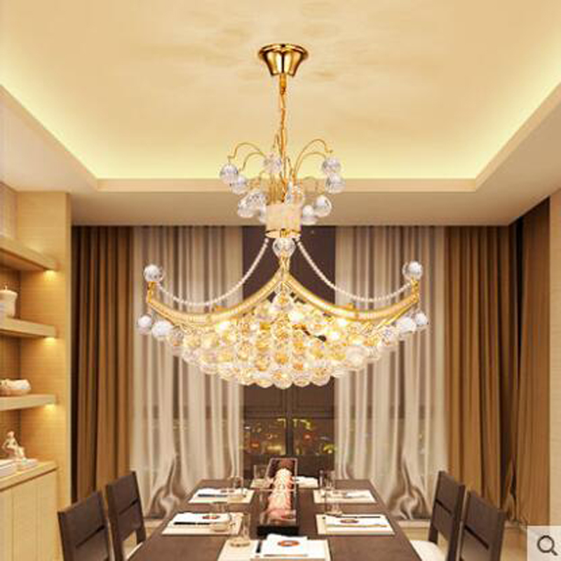 Simple modern bedroom lights romantic romantic ceiling lamp crystal lamp round restaurant lights study room living room lamps цены