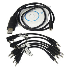 6 in 1 USB Programming Cable For YAESU BAOFENG UV-5R BF-888S For KENWOOD PUXING For Motorola For ICOM Radio Walkie Talkie