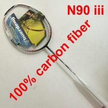 Ракетка для бадминтона N90 iii prestrung clearance ракетка для бадминтона углеродное волокно N903