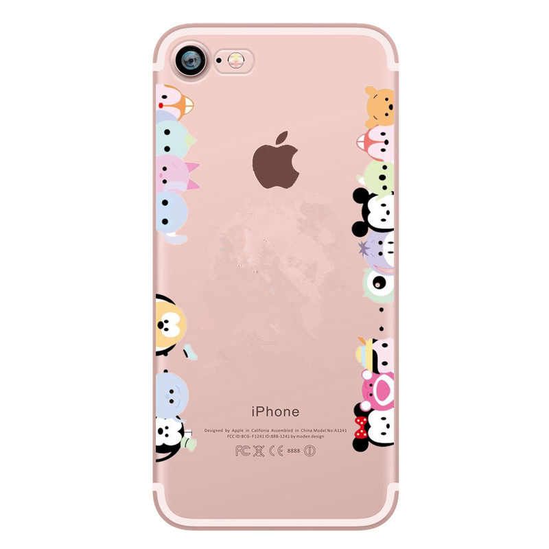 Nueva llegada de silicona suave TPU para iphone x funda Mickey para mujeres funda Coque para iphone 6 7 8 Plus X 10 teléfono caso Stitch