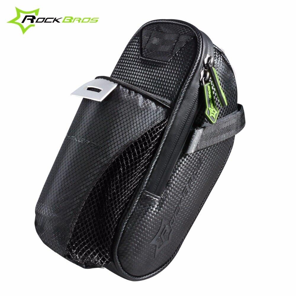 Rockbros Bicycle Saddle Bag With Water Bottle Pocket Waterproof Mtb 010 4bk Handlebar 6 Inch Bike Rear Bags Cycling Seat