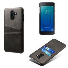 For Samsung J8 J4 Core 2018 J4Plus J6 PLUS PRIME J7 PRO 2017 J2 PU Leather Phone Card Wallet Case Business Style Cover