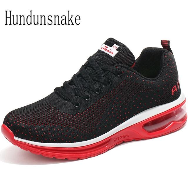Hundunsnake Atletik Sepatu Pria Sneakers Hitam Sepatu Lari untuk Pria  Sepatu Olahraga Pria Dewasa Krasovki 2018 1f7bcf7575