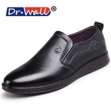 Dr. стены новый мода Летняя повседневная обувь мужские лоферы Пояса из натуральной кожи мокасины Мужские туфли для вождения Высокое качество Туфли без каблуков для мужчин