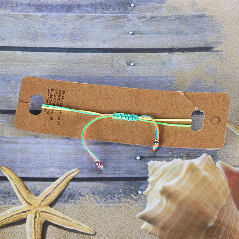 قوس قزح قذيفة سحر braceles الاطفال المنسوجة اليدوية حبل الأحمر نمط صدف سوار مجوهرات للنساء البوهيمي الأزياء الإسورة هدية