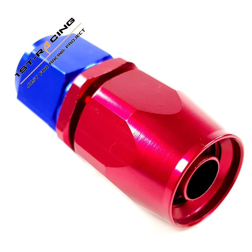 An8 8an an 8 45 degree reusable swivel ptfe hose end - 8an An8 Straight Swivel Oil Fuel Line Hose End Fitting Red Blue