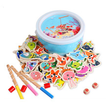 Magnetic Fishing Educational Fishing Game Wooden Toy Child Baby Birthday Gifts Parent Chiid Interaction Funny Fishing Toy plastic toy baby birthday gift desktop funny game tabletop shoot football fossball family parent child interactive educational