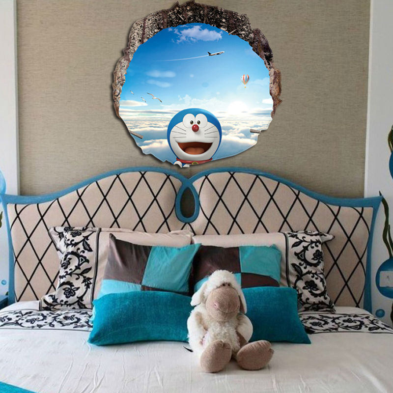 font b Doraemon b font Wall Poster Waterproof Floor C hildren s Bedroom Living Room