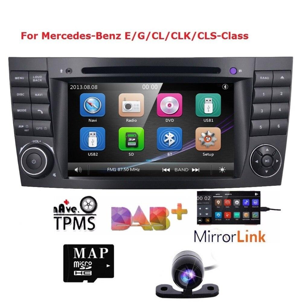2Din CarDVD GPS pour Mercedes Benz w211 2002-2009 L'iran 2003-2011 E-Classe CL avec lecteur dvd radio multimédia Audio navigation CAM