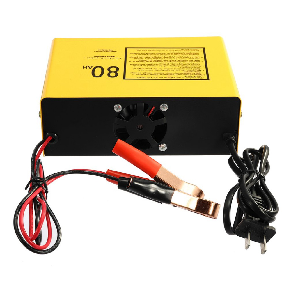 Professional 140W Car Battery Charger Full Automatic-protect Quick Charger 6V/12V 80AH Automatic Intelligent  Negative Pulse Hot