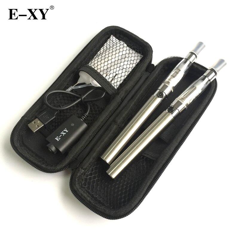 E-XY Cigarette Électronique CE4 Double Starter Kits Zipper Carry Case 1100 mAh Kit