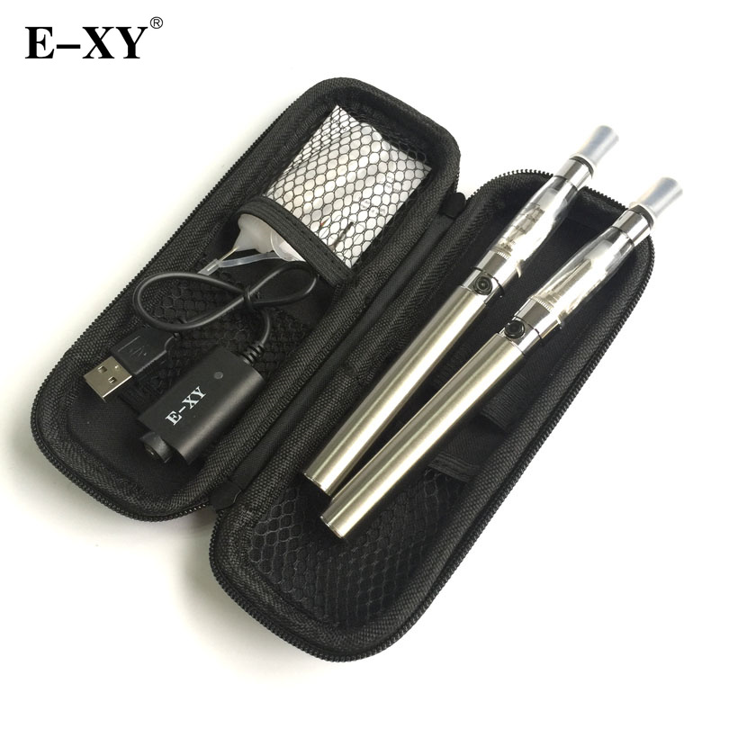 E-XY Electronic Cigarette CE4 Double Starter Kits Zipper Carry Case 1100mAh Kit