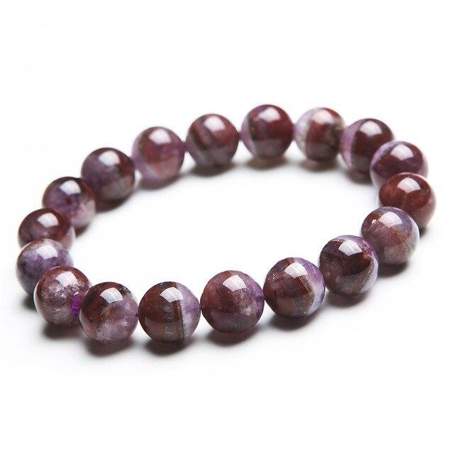 11.5mm Genuine Natural Cacoxenite Auralite 23 Quartz Healing Crystal Bracelets For Women Round Beads Stretch Charm Bracelet
