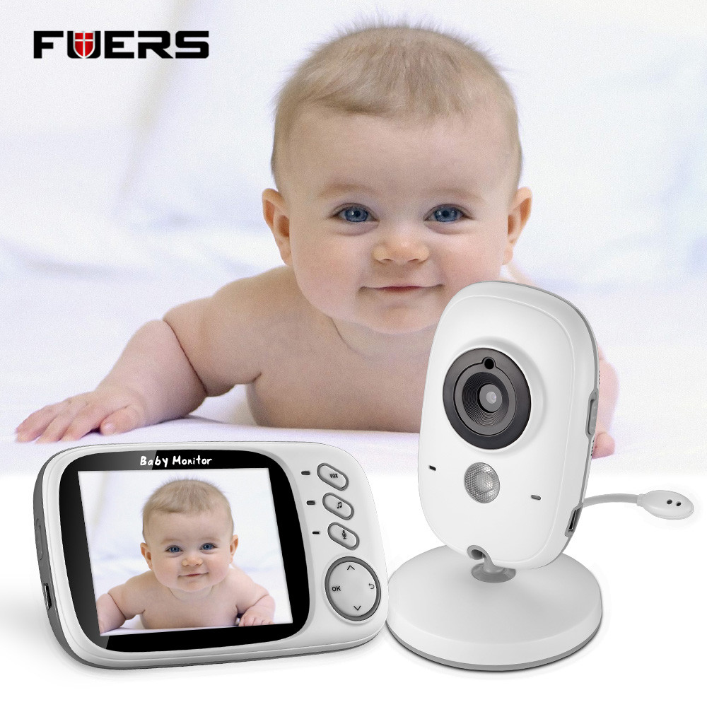 Fuers 3.2''VB603 Wireless Baby Monitor Audio Video Baby Camera Portable Baby Walkie Talkie Temperature monitor For Sleeping 2pcs mini walkie talkie uhf interphone transceiver for kids use two way portable radio handled intercom free shipping