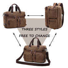 Canvas Leather Men Travel Bags