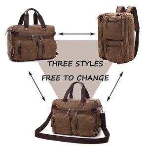 Image 5 - MARKROYAL płótno skórzane męskie torby podróżne bagaż podręczny torby męskie worki marynarskie torba podróżna ukryj pasek na ramię Dropshipping