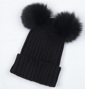 8330abe5ff9 Meihuida Winter Wool Knit Beanie Caps Women Warm Black Hats