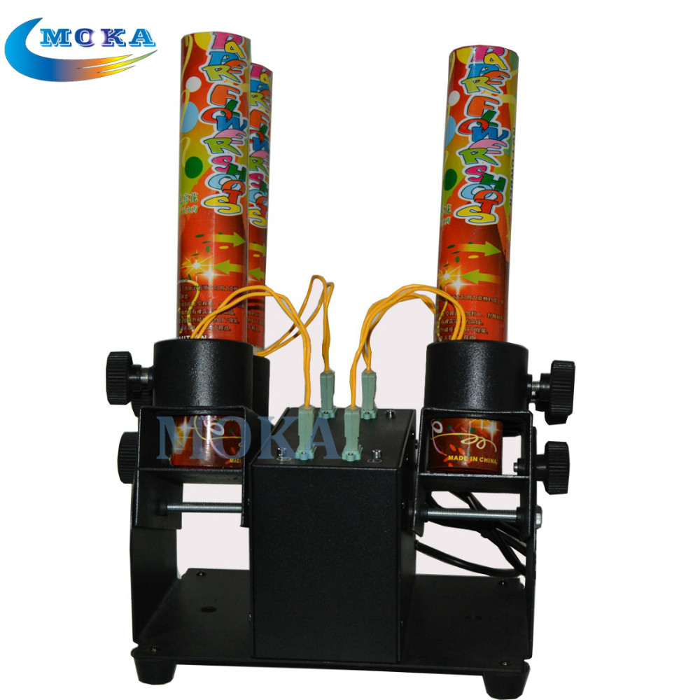 Four Heads Confetti Cannon Launcher Event Confetti Shooter Paper cannon confetti Machine For Wedding,Party,Disco paper cannon confetti machine 4 head confetti shooter with special effects continuous flow confetti cannon
