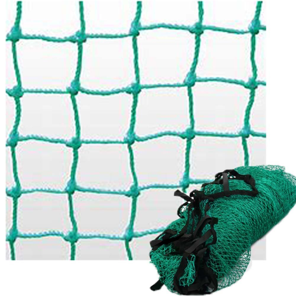10ft X 10ft Green Strong Nylon Rope Golf Practice Net Sports Football Tennis Barrier Impact Net Golf Training Aids Equipment