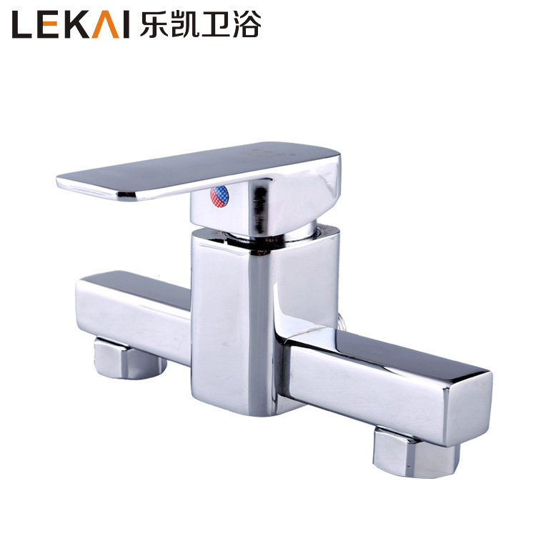 Factory direct kitchen zinc alloy double faucet lift type hot and cold mixing faucet bathroom custom