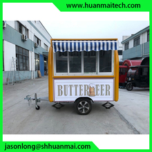 Mobile Food Truck Sales Shop Snack Trailer Mobile Shop Burger Van Concession Trailer