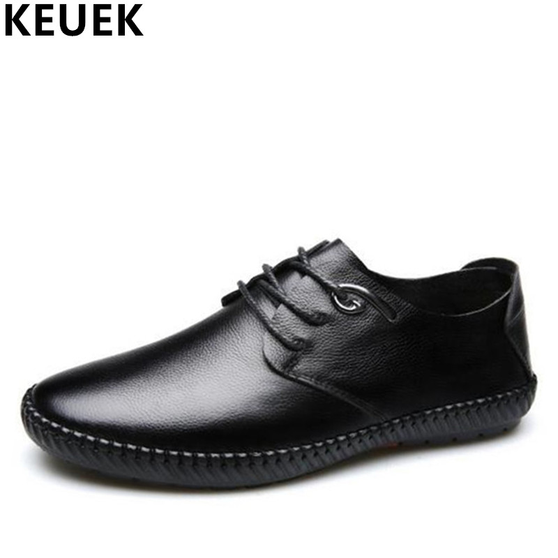 Spring Summer Men Casual shoes Lace-Up Genuine leather soft Loafers Handmade Male leather shoes Sneakers Breathable Flats 3A the spring and summer men casual shoes men leather lace shoes soled breathable sneaker lightweight british black shoes men