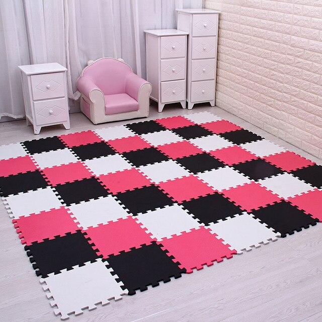 Mei qi fajne EVA dla dzieci gra piankowa podkładka do puzzli dla dzieci blokujące płytki podłogowe dywan dywan, każdy 29X29cm18 24/ 30 sztuk playmat