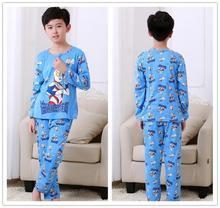 DISCOUNTS New 2017 Brand Cartoon Kid Pyjamas Autumn& Spring Boy Minions Pajamas Set Children Pyjamas christmas Kids Cloth Set