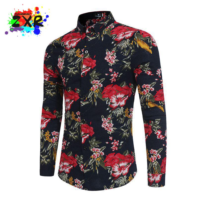 mens floral shirt men 39 s fashion chemise homme marque luxe. Black Bedroom Furniture Sets. Home Design Ideas