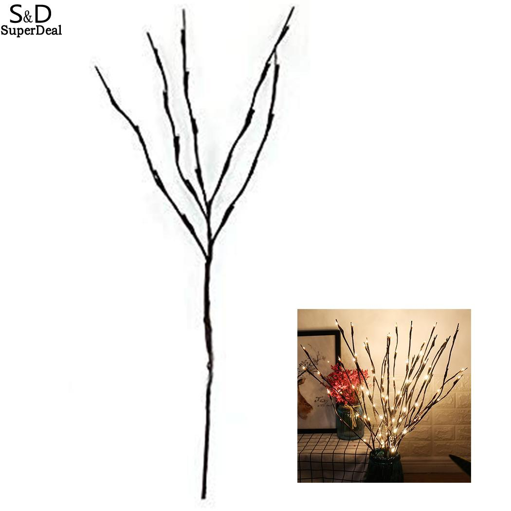 Wooden Board Glass Mason Bottle Flower 20 Roots X Tree Branch Light Lamp 50000H Creative Home Decoration IP44