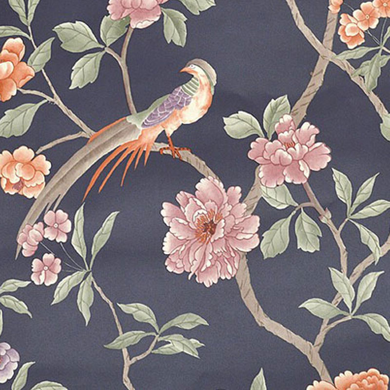 Papel De Parede 3D Paisagem Chinese Pastoral Bird Tree Flower 3D Embossed PVC Wallpaper Living Room Bedroom Backdrop Wall Papers papel de parede 3d paisagem ретро мультфильм автомобилей mural обои ktv бар кафе личности creative 3d настенной росписи стен