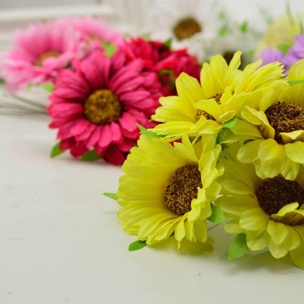 6pcs Handmade Gerbera Fashion Artificial Flowers For Indoor Decoration 1