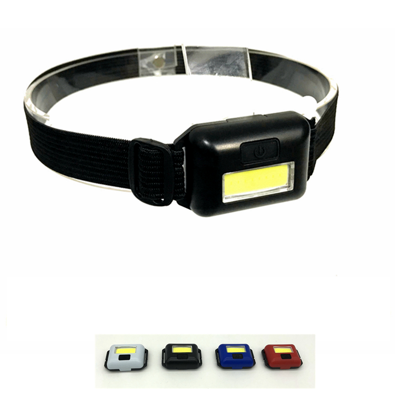 Mingray Mini Waterproof Headlight Battery 3 Mode COB 100 Lumen LED Camping Headlight Lightweight Head Lamp Ligh Running Fishing