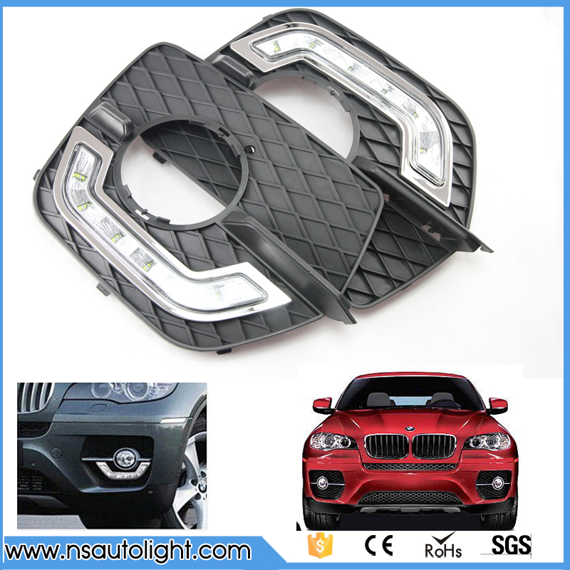 1 pair 12W CREE chips LED Daytime Running Light LED DRL Fog Lamp Car Lights for BMW X6 Day Running Light Front driving light 1 pair 12 led strip flexible snake style eagle eye car drl daytime running light driving daylight safety day fog lamp