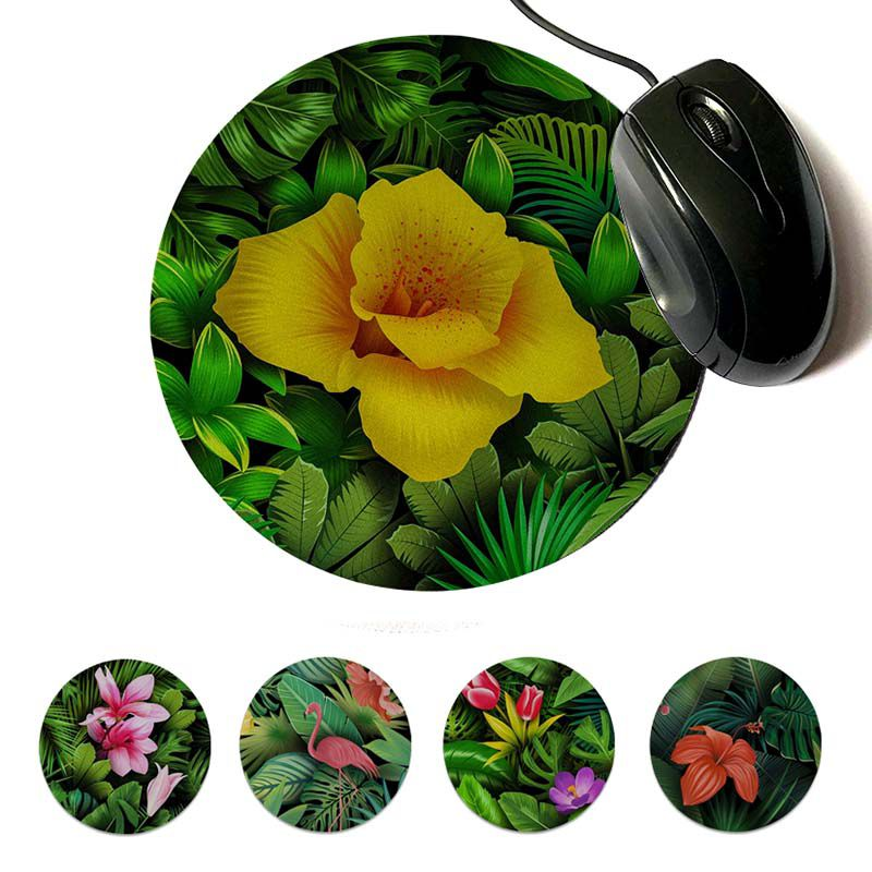 MaiYaCa Top Quality Floral background Unique Desktop Pad Game Mousepad Round mouse pad 22x22cm 20x20cm