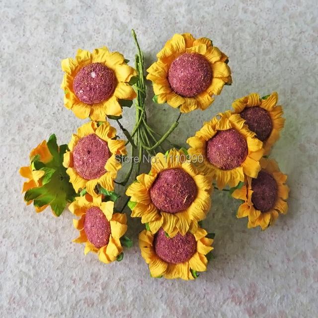Kunstliche Seidenpapier Blumen Mini Echt Touch Papier Rosen