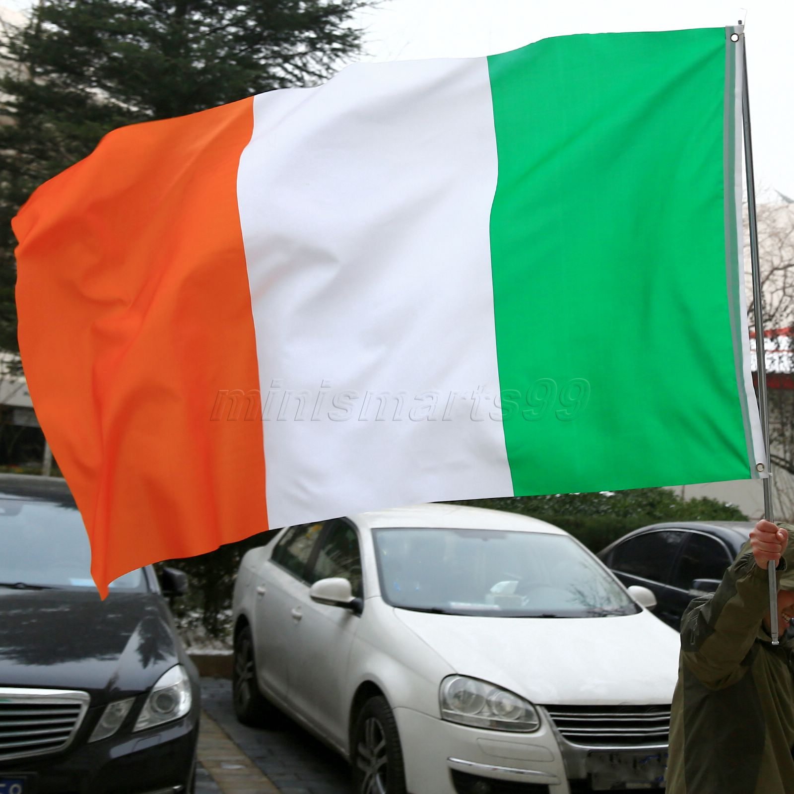 High Quality 3f x 5ft Ireland National <font><b>Flags</b></font> Polyester Irish <font><b>Flag</b></font> <font><b>90x150cm</b></font> Indoor Outdoor Banners For Celebration Big <font><b>Flag</b></font> image