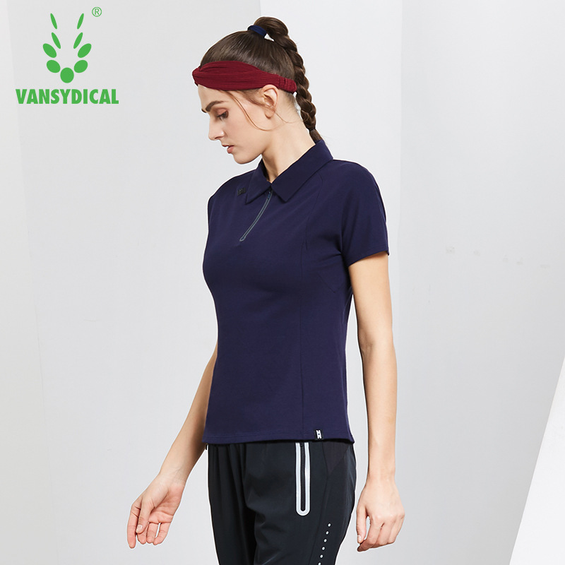 NEW Womens Half Zipper Golf Polo Shirts Short Sleeve Cotton Breathable Outdoor Workout Tennis Golf Jerseys Sports Tops