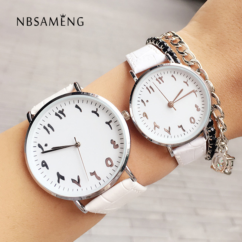 New Arabic Numeral Women Watch Men Lovers Luxury Leather Fashion Unique Design Quartz Brand Wristwatch Relogio Feminino LZ2187 arabic numeral ladies watch 2017