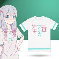 Anime Eromanga Sensei T Shirts Sagiri Izumi Cosplay Costumes Summer Short Sleeve Casual Tops Fancy Tee